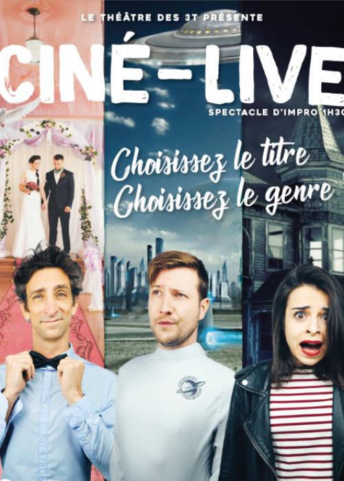Affiche du spectacle Ciné Live