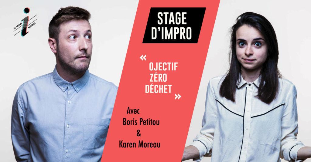 Affiche stage Impro Zéro Déchet